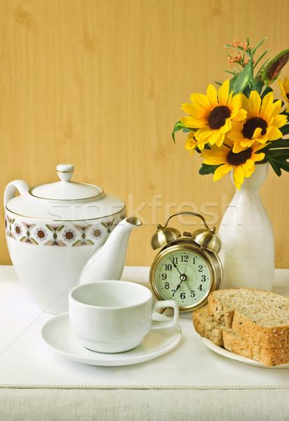 朝食 春 食品 コーヒー 自然 卵 ストックフォト © winnond