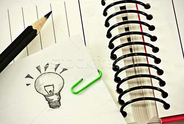 Pomysł książki Uwaga w dół działalności biuro Zdjęcia stock © winnond