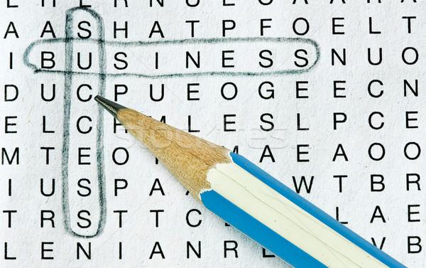 ストックフォト: ビジネス · 成功 · 作業 · 新聞 · 背景 · ビジネスマン