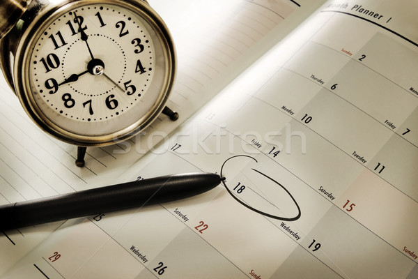 Stock photo: planner book