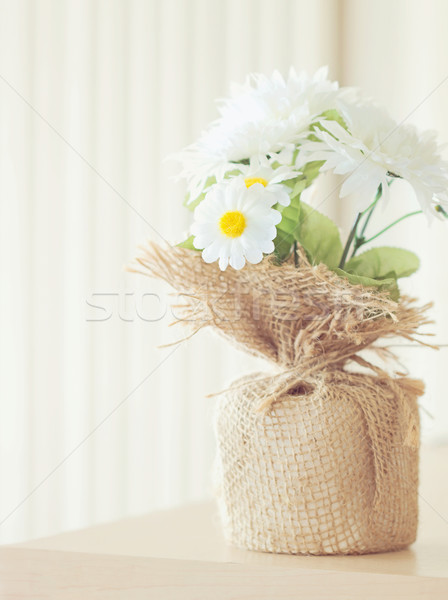 Photo stock: Soft · fleur · bouquet · table · fond