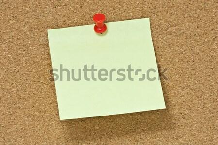Uwaga pokładzie papieru biały po Zdjęcia stock © winnond
