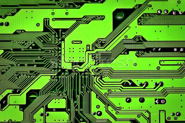 Płytce drukowanej zielone tekstury streszczenie moc wzór Zdjęcia stock © winnond