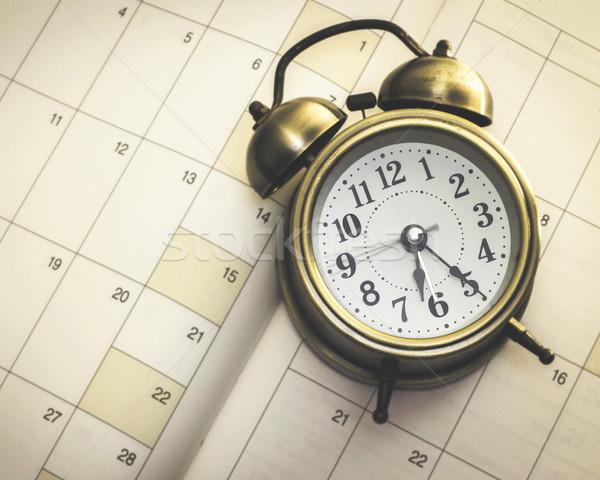 Tempo despertador diário livro negócio Foto stock © winnond