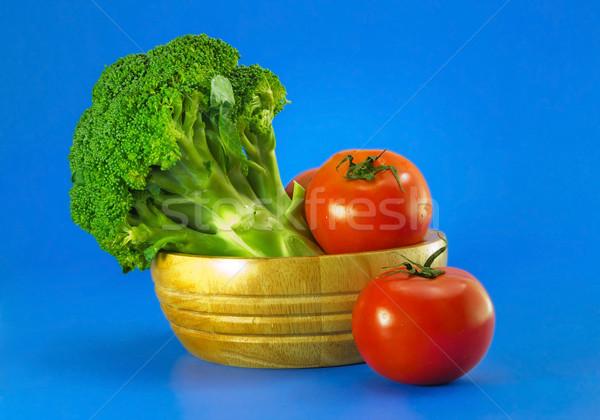 Brokuły pomidory niebieski owoców grupy czerwony Zdjęcia stock © winnond
