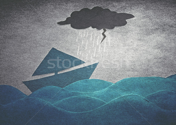 ships in storm Stock photo © winnond
