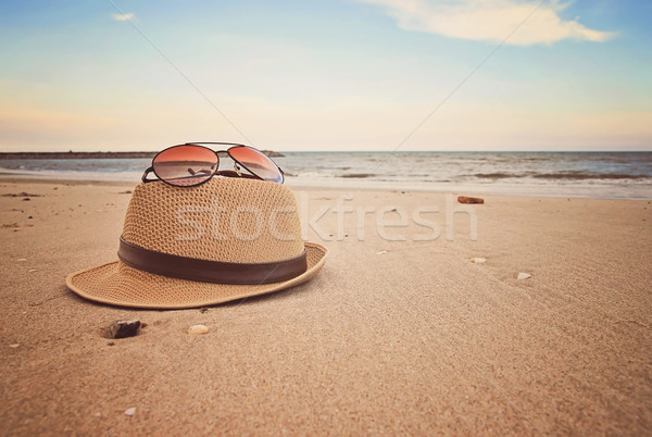 ビーチ 自然 海 砂 熱帯 サングラス ストックフォト © winnond