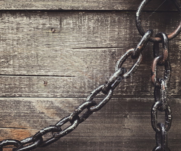 さびた チェーン 木製 デザイン 背景 鋼 ストックフォト © winnond