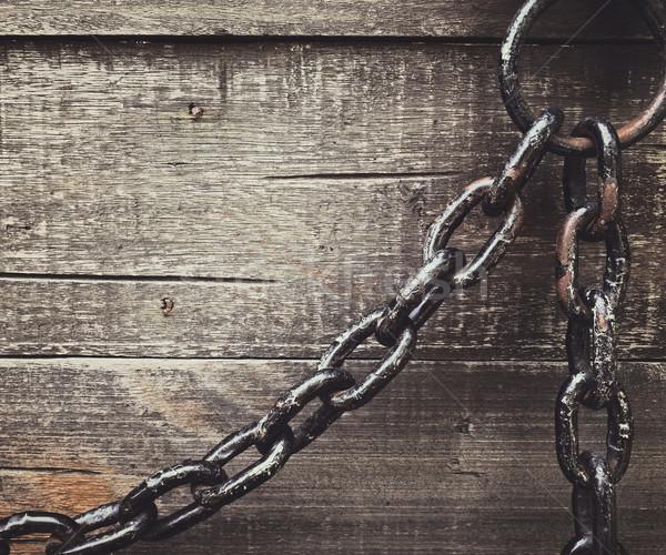 Enferrujado cadeia projeto fundo aço Foto stock © winnond