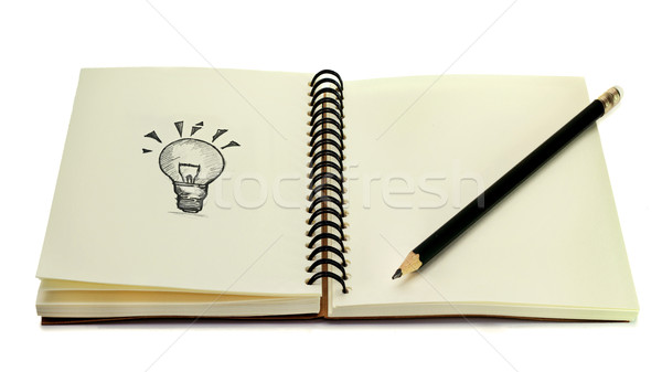 idea book Stock photo © winnond