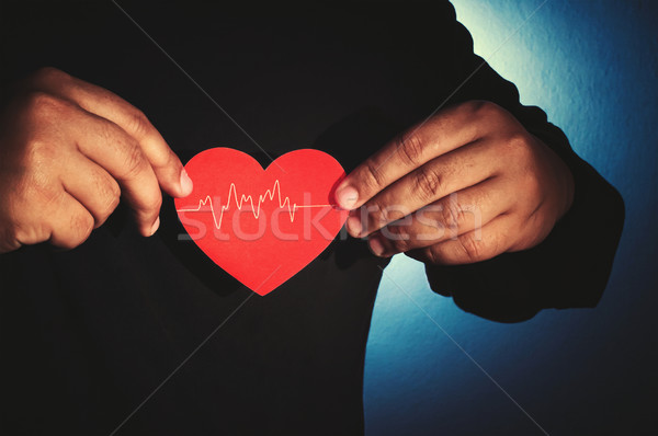 take care your heart Stock photo © winnond