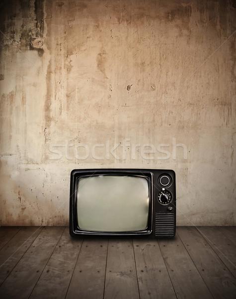 Televisão quarto parede luz casa fundo Foto stock © winnond