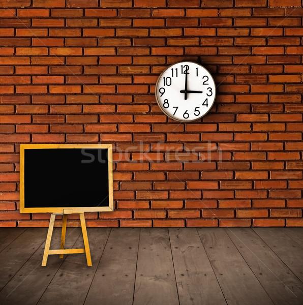 Educação tempo relógio parede fundo Foto stock © winnond