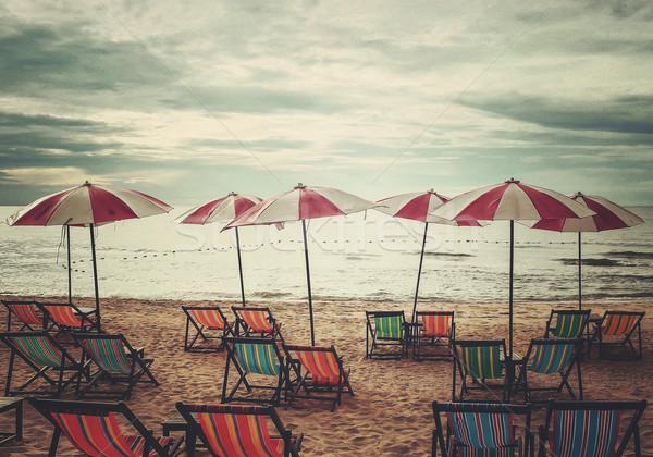 ビーチ レトロスタイル テクスチャ 自然 風景 ストックフォト © winnond