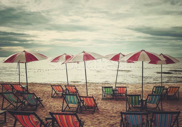 Praia estilo retro textura natureza paisagem Foto stock © winnond
