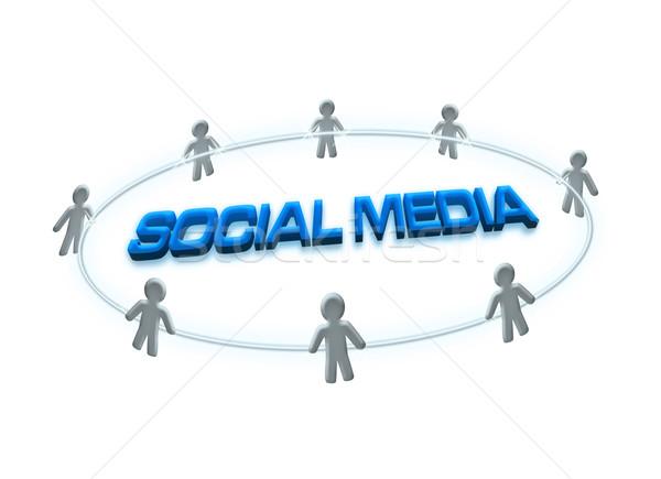 ソーシャルメディア ネットワーク 人 デザイン 背景 話 ストックフォト © winnond