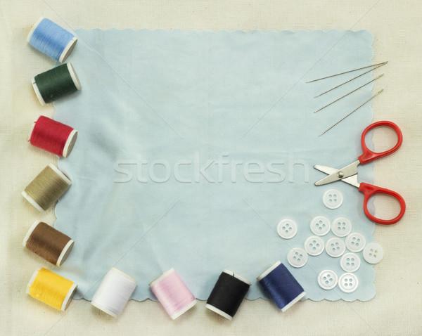 De costura projeto tecido cores Foto stock © winnond