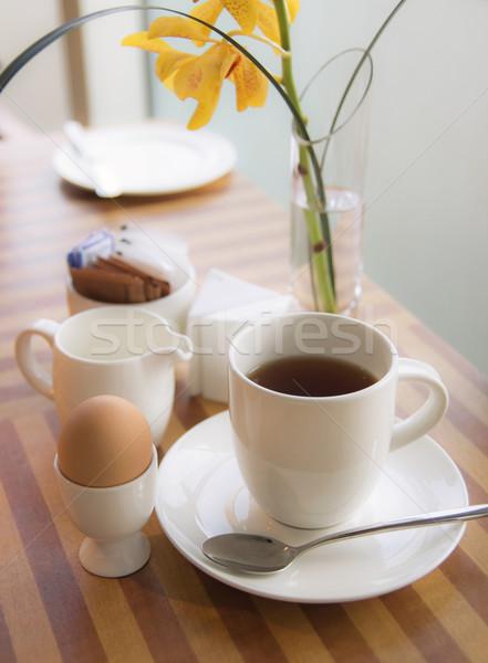 Rano herbaty żywności kawy charakter jaj Zdjęcia stock © winnond