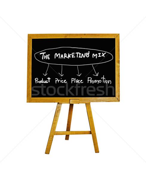 Obrotu działalności sklepu informacji biały Zdjęcia stock © winnond