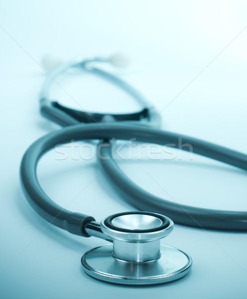 Azul estetoscópio médico medicina profissional cuidar Foto stock © winnond