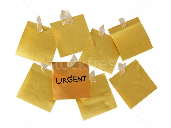 緊急 注記 黄色 紙 オフィス 封筒 ストックフォト © winnond