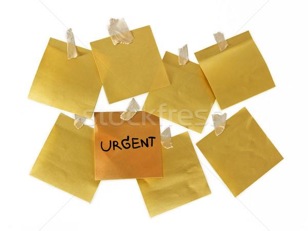 Acil dikkat sarı kâğıt ofis zarf Stok fotoğraf © winnond