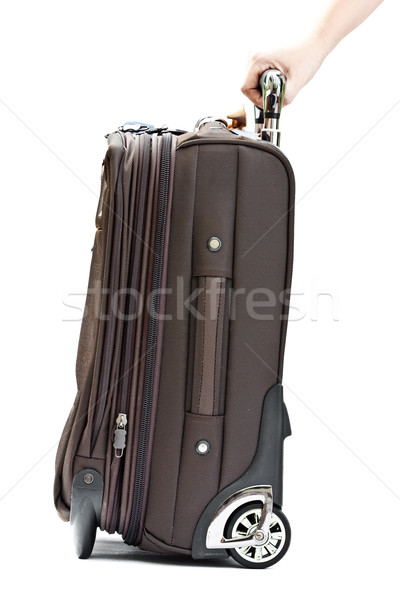 hand with suitcase Stock photo © winnond