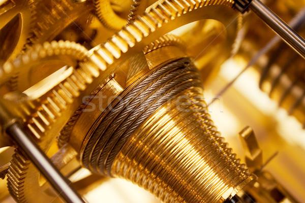 Golden Clockwork Stock photo © winterling