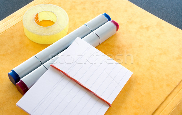 Various Office Supplies Stock photo © winterling