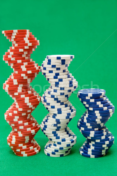 Three Stacks of Poker Chips Stock photo © winterling