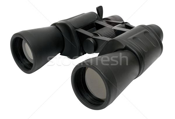 Látcső vágási körvonal fekete izolált fehér akta Stock fotó © winterling