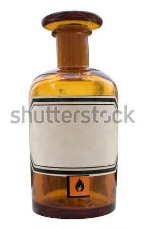 Oude bruin label geïsoleerd Stockfoto © winterling