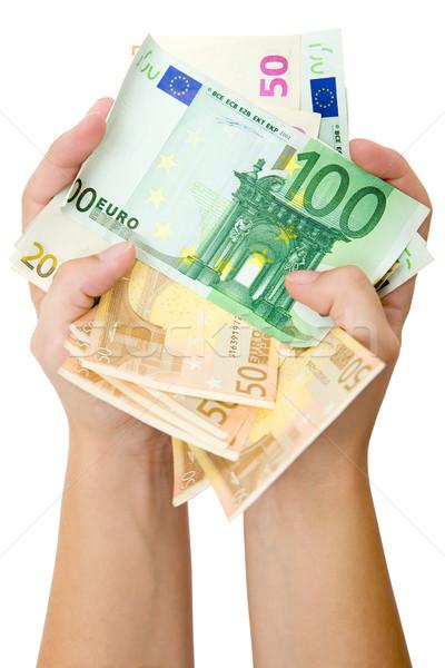 Euros isolé Photo stock © winterling