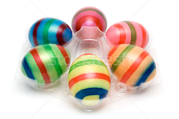 Six Colorful Easter Eggs Stock photo © winterling