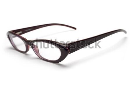 Stijlvol bril vrouwelijk geïsoleerd witte ondiep Stockfoto © winterling