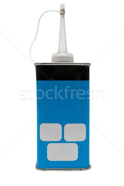 Olie kan klein geïsoleerd witte Stockfoto © winterling