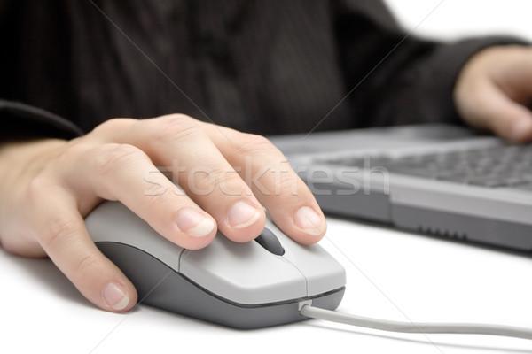Werkplek zakenvrouw werken laptop witte business Stockfoto © winterling