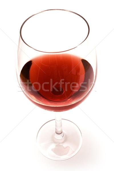 Сток-фото: стекла · изолированный · белый · красный · напитки