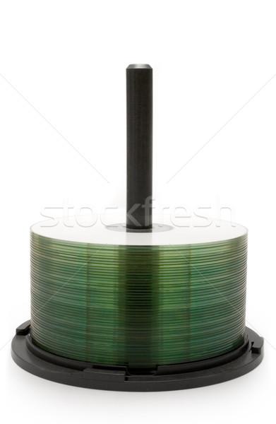 CD odizolowany biały komputera muzyki Zdjęcia stock © winterling