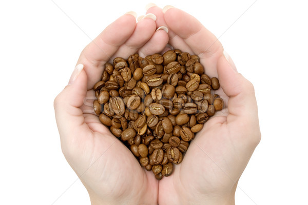 Handful of Coffee Beans Stock photo © winterling