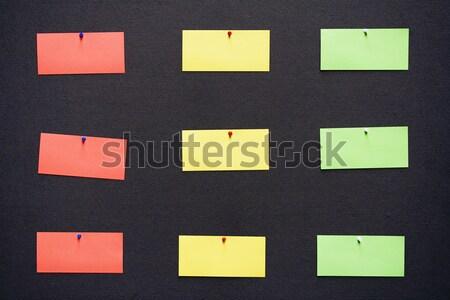 Kleurrijk merkt kantoor muur achtergrond ruimte Stockfoto © winterling