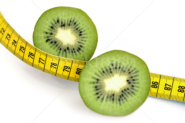 Sliced Kiwi and Measuring Tape Stock photo © winterling