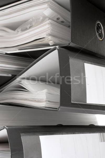Noir fichier dossiers plein documents Photo stock © winterling