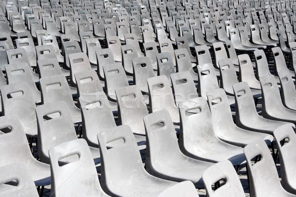 Foto stock: Vazio · cinza · plástico · esportes · concerto