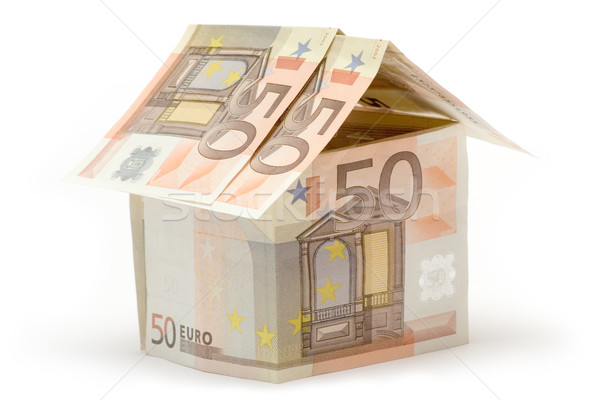 Cincuenta euros casa pequeño construir Foto stock © winterling