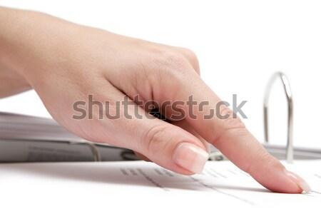 Mão mouse de computador feminino cinza isolado branco Foto stock © winterling