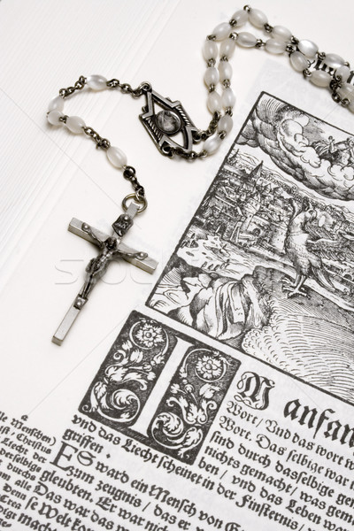 Rosary and Bible Stock photo © winterling