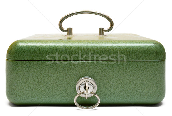 Fechado numerário caixa isolado branco negócio Foto stock © winterling