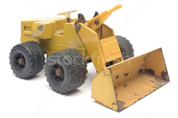 Brinquedo escavadora modelo isolado branco construção Foto stock © winterling