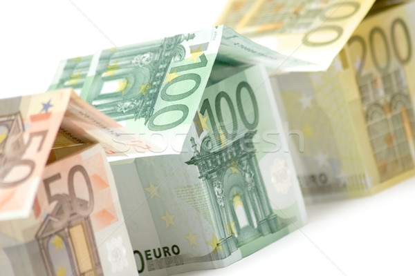 Euro huizen sluiten drie kleurrijk Stockfoto © winterling